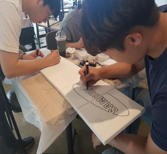 [팀빌딩/소속감] 팝아트 초상화(추가 액자)
